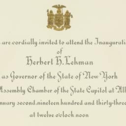 Invitation: 1933 January 2
