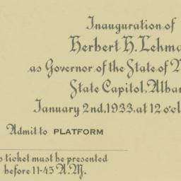 Invitation: 1933 January 2
