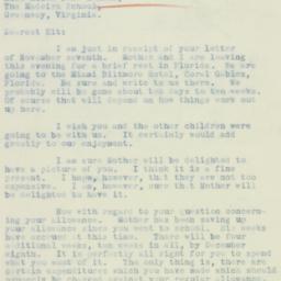 Letter : 1934 November 11