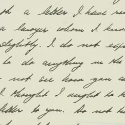 Letter: 1933 July 15