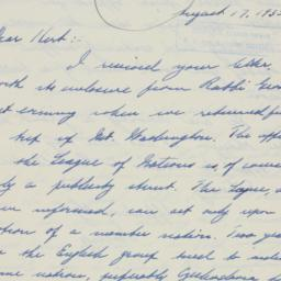 Letter: 1935 August 17