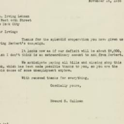 Letter: 1936 November 16