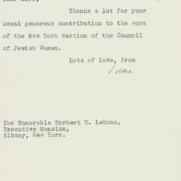 Letter: 1937 February 6