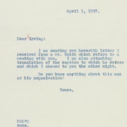Letter: 1937 April 1