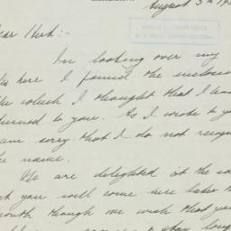 Letter: 1937 August 5