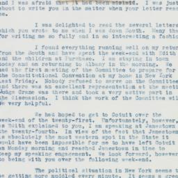 Letter: 1937 August 9