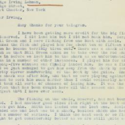 Letter: 1938 April 30