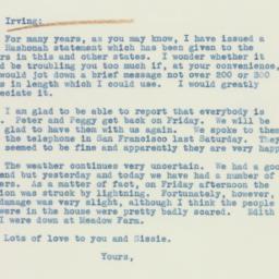 Letter: 1938 August 2