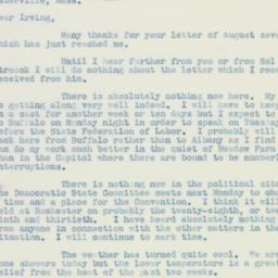 Letter: 1938 August 18