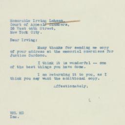 Letter: 1938 December 17