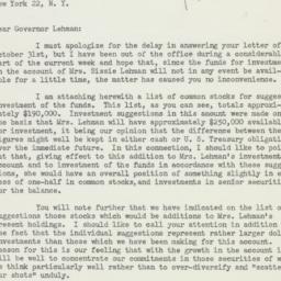 Ephemera: 1947 November 7