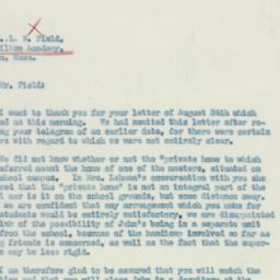 Letter : 1933 August 26