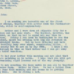 Letter : 1934 May 7