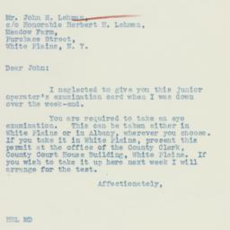 Letter : 1936 July 21