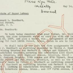Letter : 1937 May 14