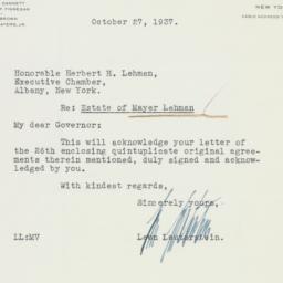Letter : 1937 October 27