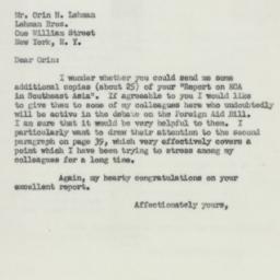 Letter : 1951 July 16