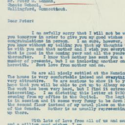Letter: 1933 January 16