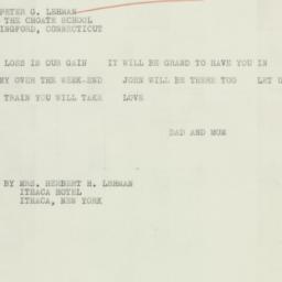 Letter: 1934 February 16