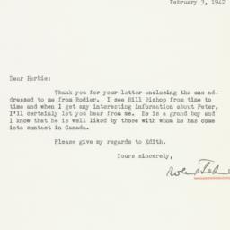 Letter : 1942 February 3
