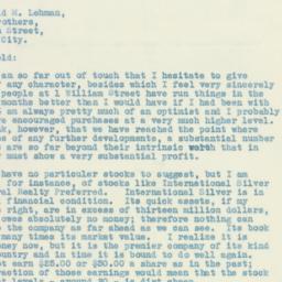 Letter : 1931 October 8