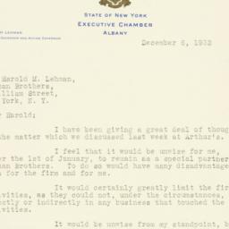 Letter: 1932 December 6