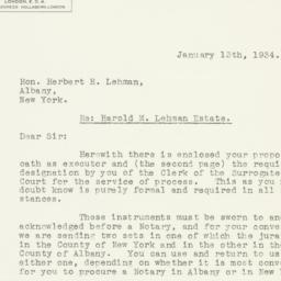 Letter : 1934 January 13