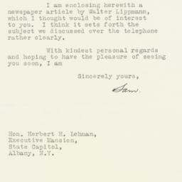 Letter : 1935 August 2