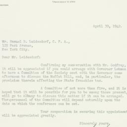Letter : 1942 April 30
