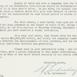 Invitation : 1943 September 8