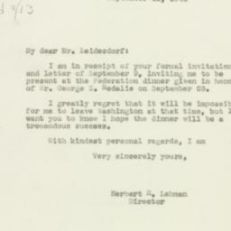 Letter: 1943 September 11