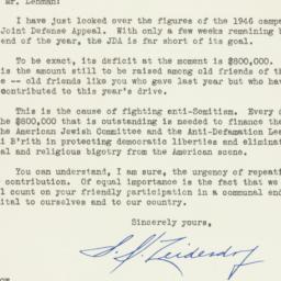 Letter: 1946 December 10