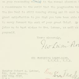 Letter : 1949 November 10
