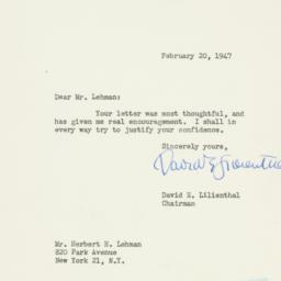 Letter : 1947 February 20