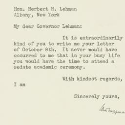 Letter : 1936 October 13