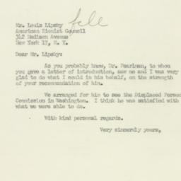 Letter : 1951 August 8