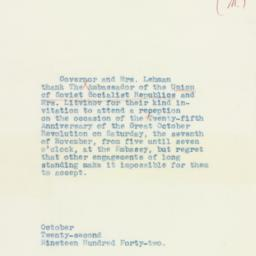 Letter : 1942 October 22