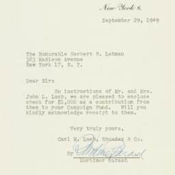 Letter : 1949 September 29