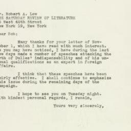 Letter : 1949 November 6