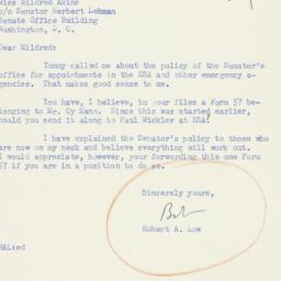 Letter : 1951 February 9
