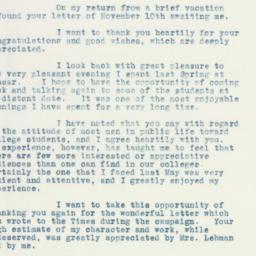 Letter : 1932 November 22