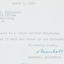 Ephemera: 1950 April 7
