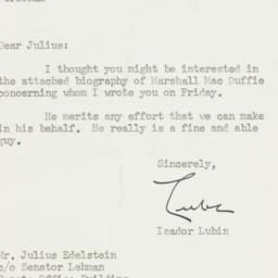 Letter : 1950 April 10