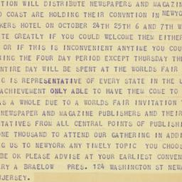 Telegram : 1939 October 15