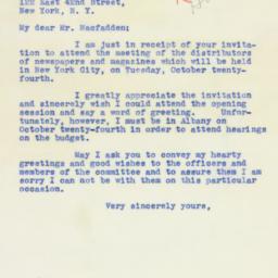 Telegram : 1939 October 16