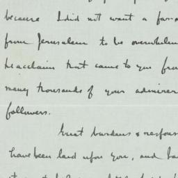 Letter : 1933 February 7