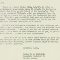 Letter: 1951 June 9