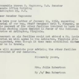 Letter: 1952 January 24
