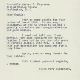 Letter: 1955 April 2