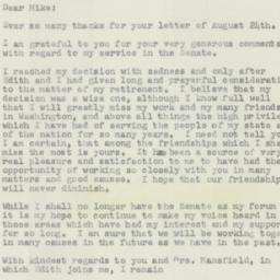 Letter : 1956 September 1